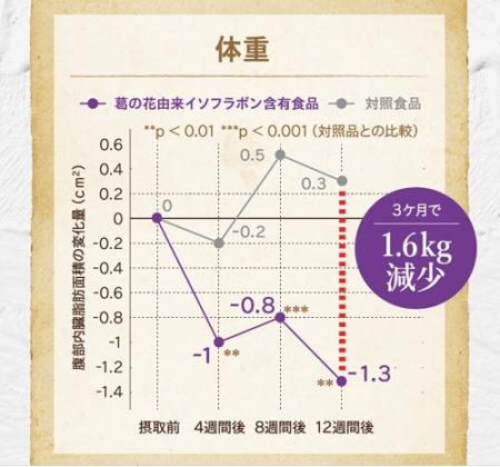 体重の試験結果