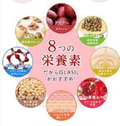 グラシルに含まれる8つの栄養素の画像